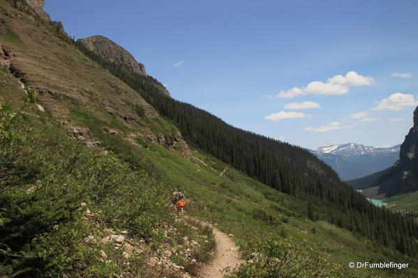 Trail in the Plain of the Six Glaciers