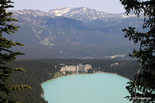 View of Lake Louise and Chateau Lake Louise