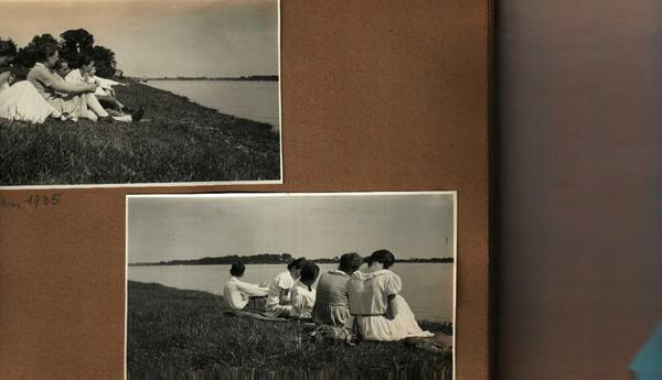 Reiner's family Rhine riverbank