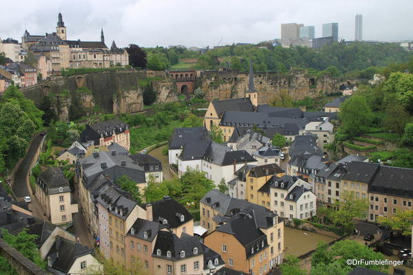 Luxembourg City. Ramparts and River
