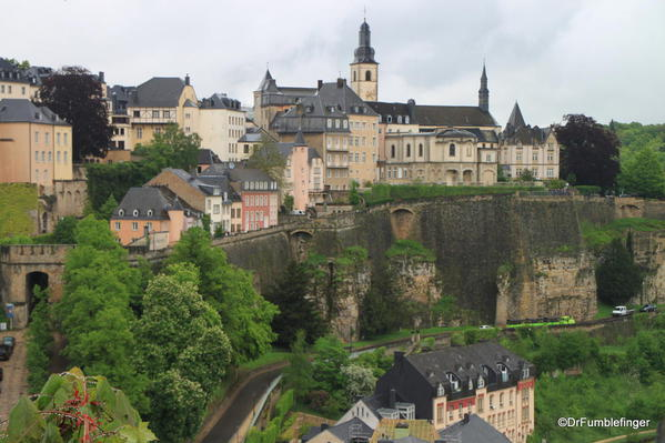 Luxembourg City. Ramparts