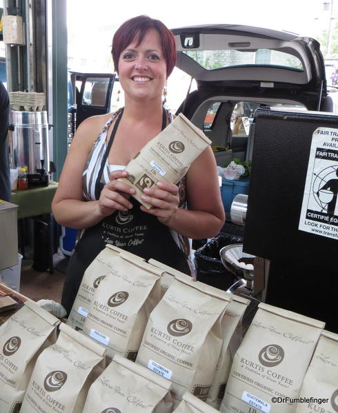 Coffee vendor, St Catharines Market, Niagara Peninsula, Ontario