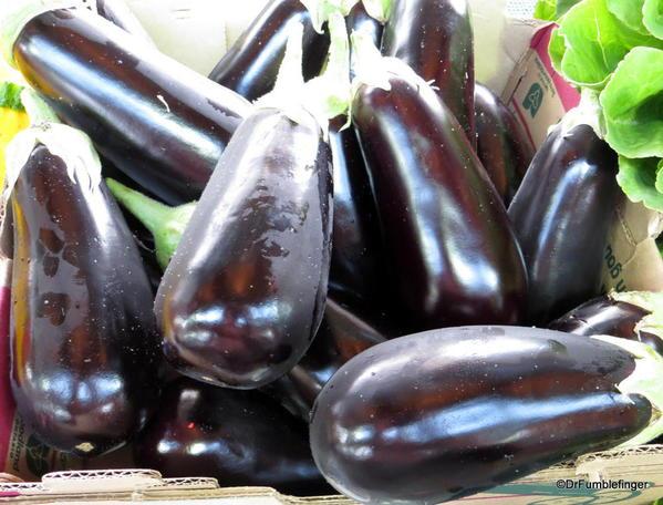Eggplant, St Catharines Market, Niagara Peninsula, Ontario
