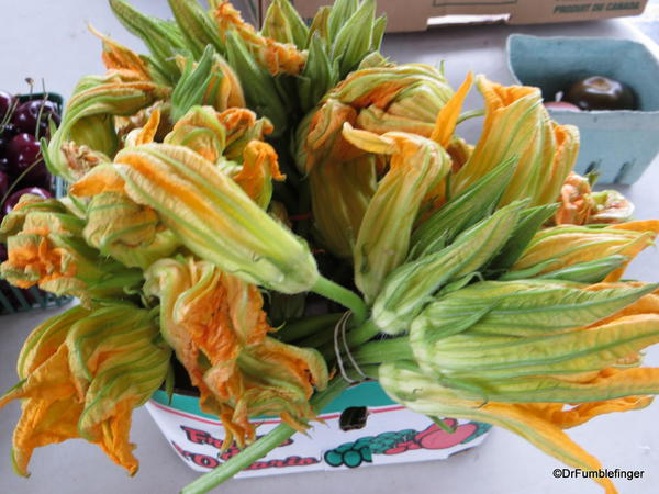 Zucchini blossoms, St Catharines Market, Niagara Peninsula, Ontario