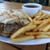 Grizzly Paw, Canmore, Alberta.  Cuban Duck Sandwich