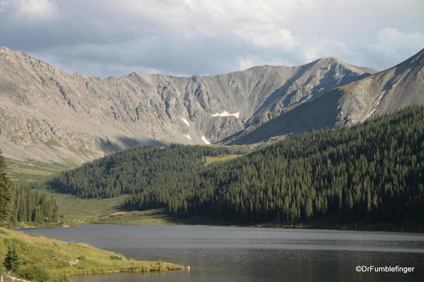 Colorado's Rocky Mountains by the Clinton Gulch Dam Reservoir