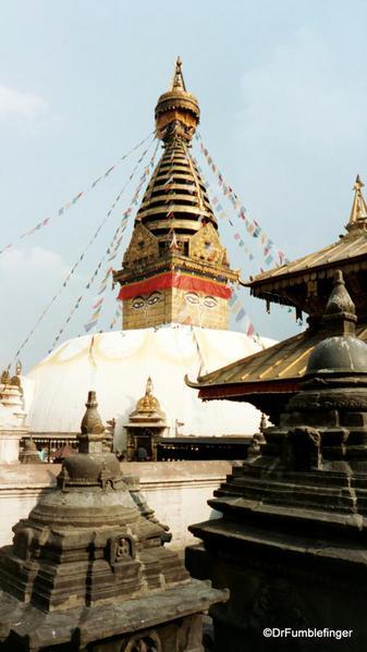 Swayambunath Stupa, Kathmandu, Nepal.