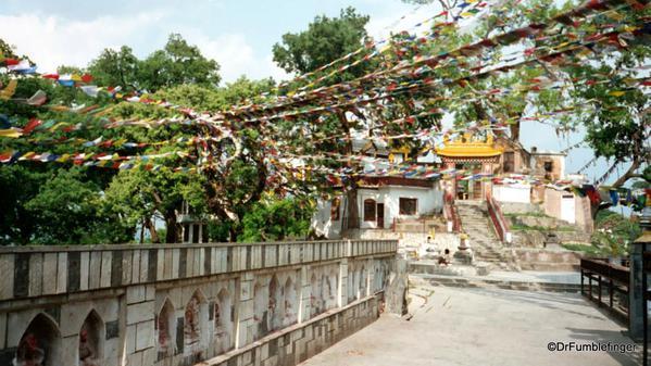 Prayer flags, Swayambunath Stupa, Kathmandu, Nepal.