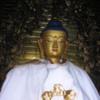 Vairochana Buddha, Swayambunath Stupa.  Courtesy Wikimedia, Kamal Ratna Tuladhar