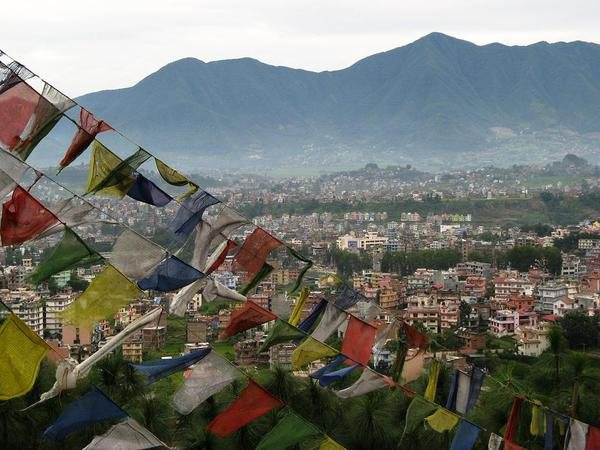 Kathmandu viewed from the Swayambunath Stupa. Courtesy Wikimedia, Ester Inbar