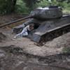 WS exploring a tank: WS exploring a tank