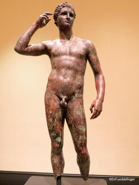 Getty Villa. Victorious youth Greek 300 BC