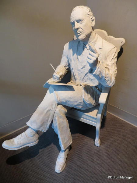 The National Steinbeck Center, Salinas. Statue of John Steinbeck