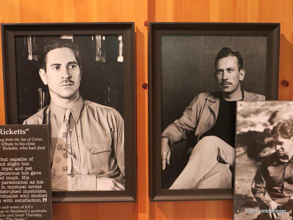 The National Steinbeck Center, Salinas. Doc Ricketts (L) and John Steinbeck (R). Two very dear friends