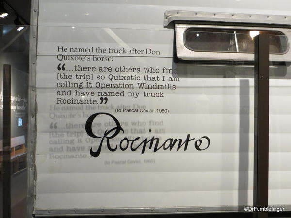 The National Steinbeck Center, Salinas. Rocinante, Steinbeck's actual touring vehicle from his