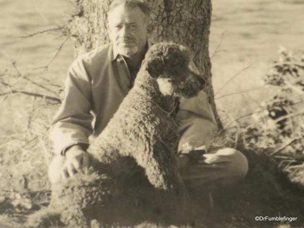 The National Steinbeck Center, Salinas. Photograph of John and his beloved Charlie
