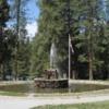 Fountain at the Wawona Hotel, Yosemite National Park