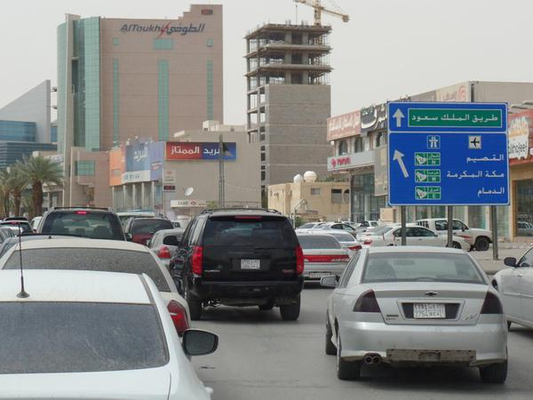 Traffic is a mess in Saudi