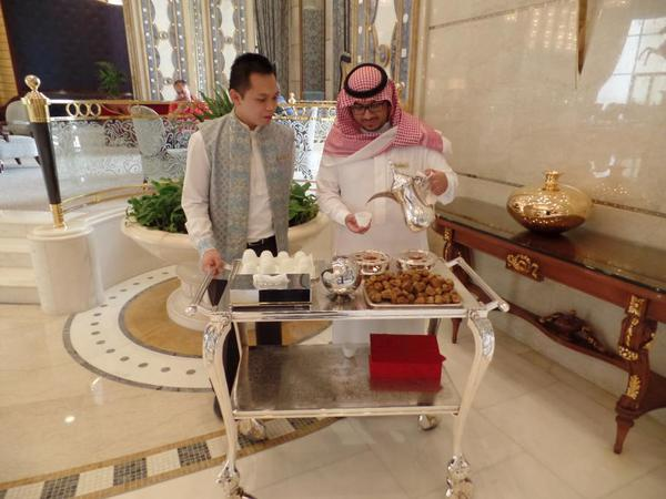 Saudi Arabia Riyadh Ritz Carlton, reception staff