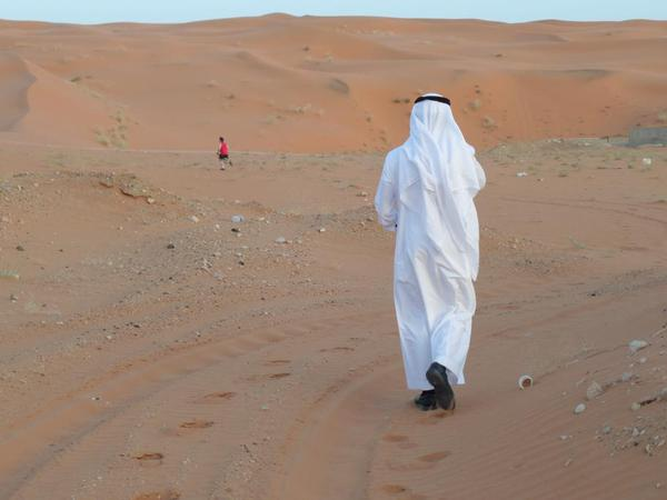 Saudi Arabia Riyadh. Running in the sands