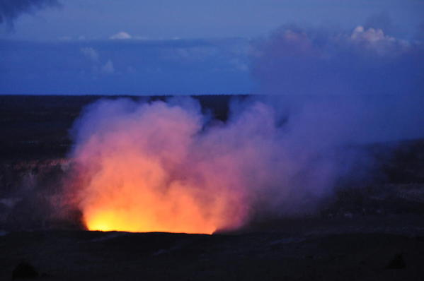 Volcanoes N.P. -- Glow from Halema'uma Crater