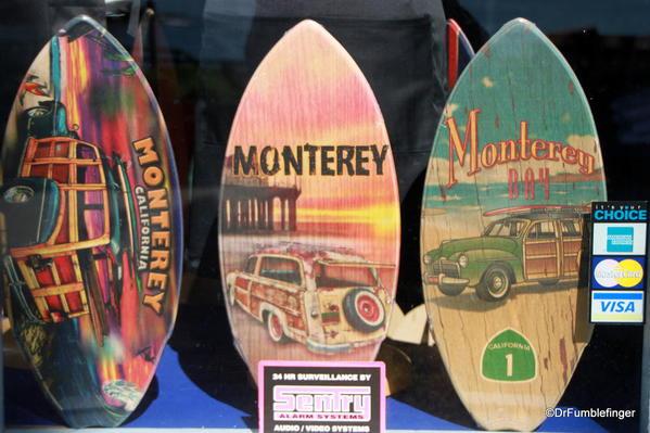 Souvenir surfboards, Cannery Row