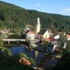 IMG_2614: Village of Rozmberk and River Vlatava