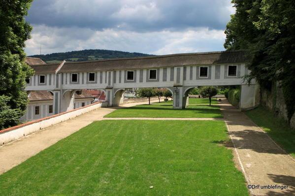 Cesky Krumlov. Castle Overpass