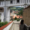 Cesky Krumlov.  View of town from castle