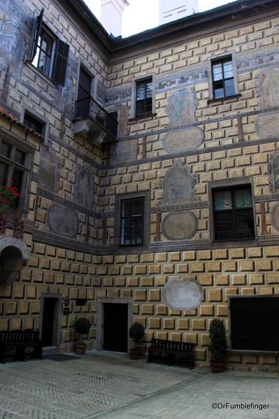 Cesky Krumlov. Castle Interior courtyard