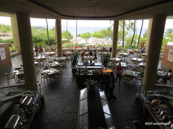 Main dining room of the Hapuna Beach Prince Resort