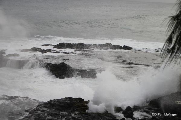 Hurricane Ana approaches Kauai's southern shore @Po'ipu
