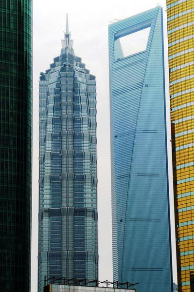 New spruts in the Pudong financial district, Shanghai