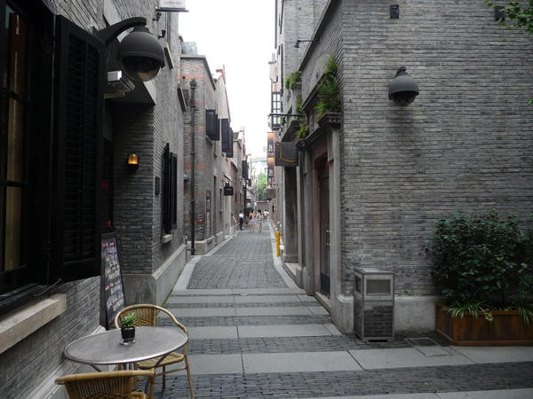 """The old style ally way called """"Longdang"""" , Shanghai"""