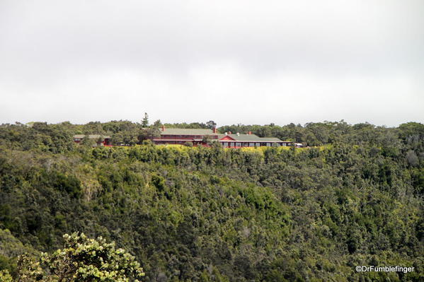 Volcanoes National Park. Historic Volcano Lodge sits above Kilauea Crater