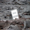 "Volcanoes National Park.  ""No  Parking"", Chain of Craters Road"