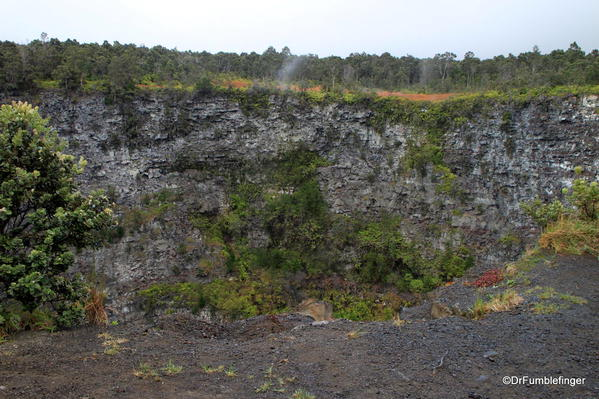 Volcanoes National Park. Volcanoes National Park: One of the largest pit craters adjoining the Chain of Craters Road