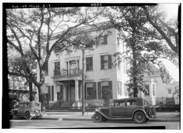 Historic_American_Buildings_Survey_W._N._Manning,_Photographer._Feb._28,_1934_FRONT_ELEVATION_-_NORTH_-_Jonathan_Emanuel_House,_251_Government_Street,_Mobile,_Mobile_County,_AL_HABS_ALA,49-MOBI,3-1.tif
