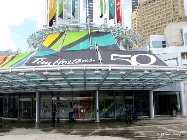 Toronto Convention Center, Note the Tim Horton @50 banner