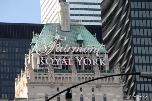 The elegant Royal York hotel, the first of Toronto's upscale hotels