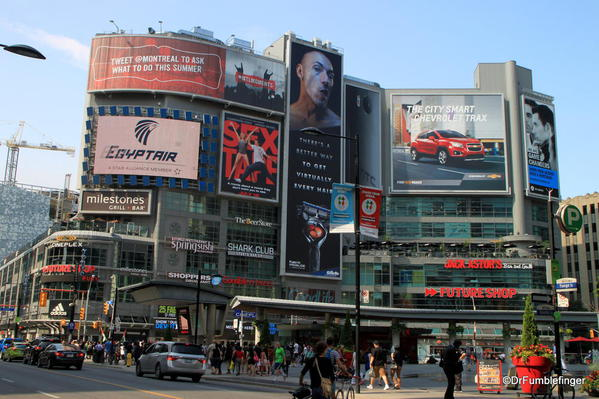 Toronto's colorful Yonge street. Reminds me of Times Square