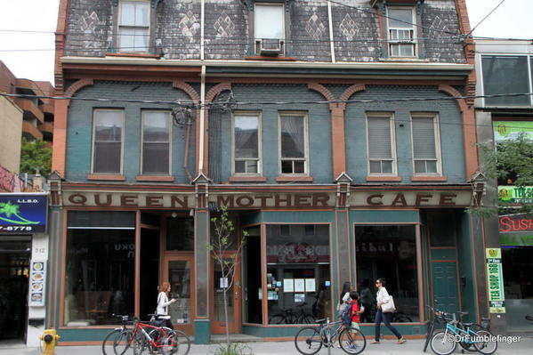Signs of Toronto, Queen Street. Queen Mother Cafe