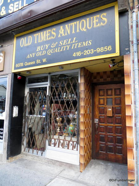 Signs of Toronto. Old Times Antiques