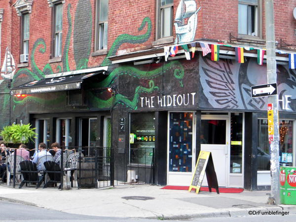 Signs of Toronto. The Hideout