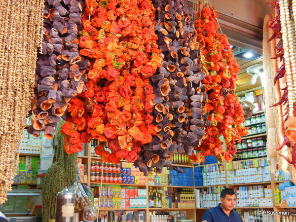 Istambul 2014 145 dried eggplant and peppers