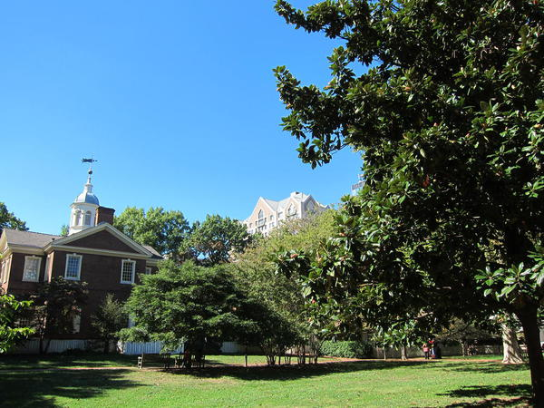 Lovely parks around the Independence Hall area, Philadelphia