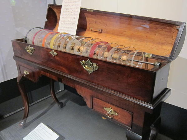 Glass Armonica, Ben Franklin Museum, Philadelphia