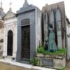 Buenos Aires' Recoleta Cemetery.   Grave of Liliana Crociati, with dog
