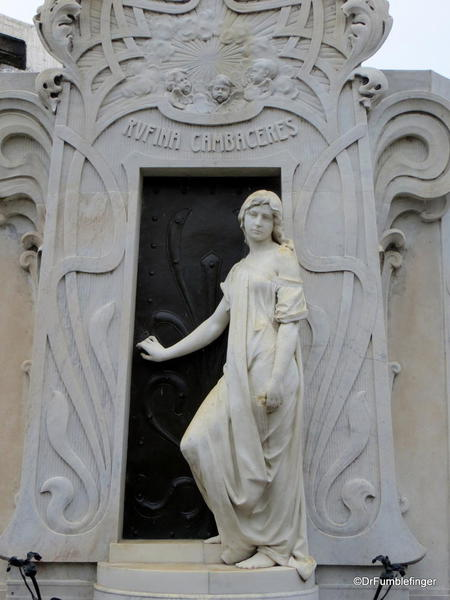 Buenos Aires' Recoleta Cemetery. Grave of Rufina Cambaceres. Buried alive