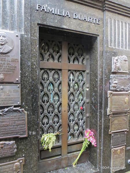 Buenos Aires' Recoleta Cemetery. Grave of Eva Peron (Evita)